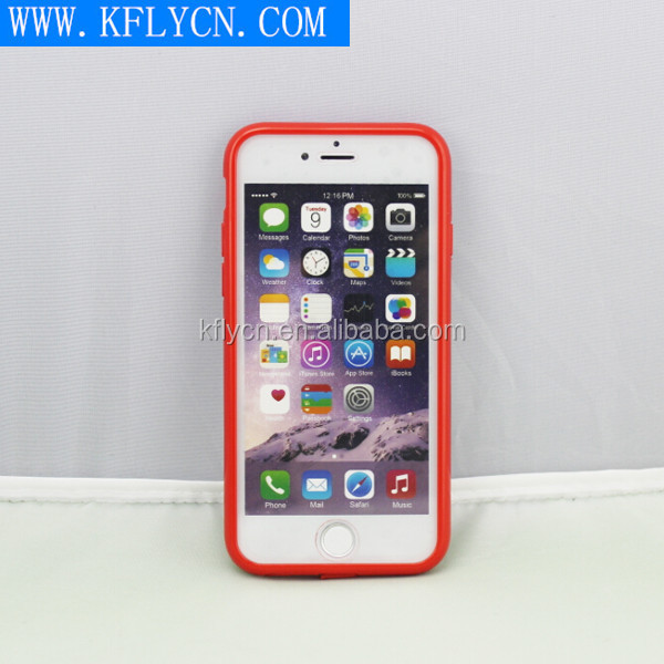 Transparent UP And Down Lids Protect Cover Case For Iphone 6 and for IPhone 6 Plus