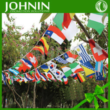 China factory direct sales all country national days use Cheap Printed Party Decoration hanging use bunting cheering banner flag