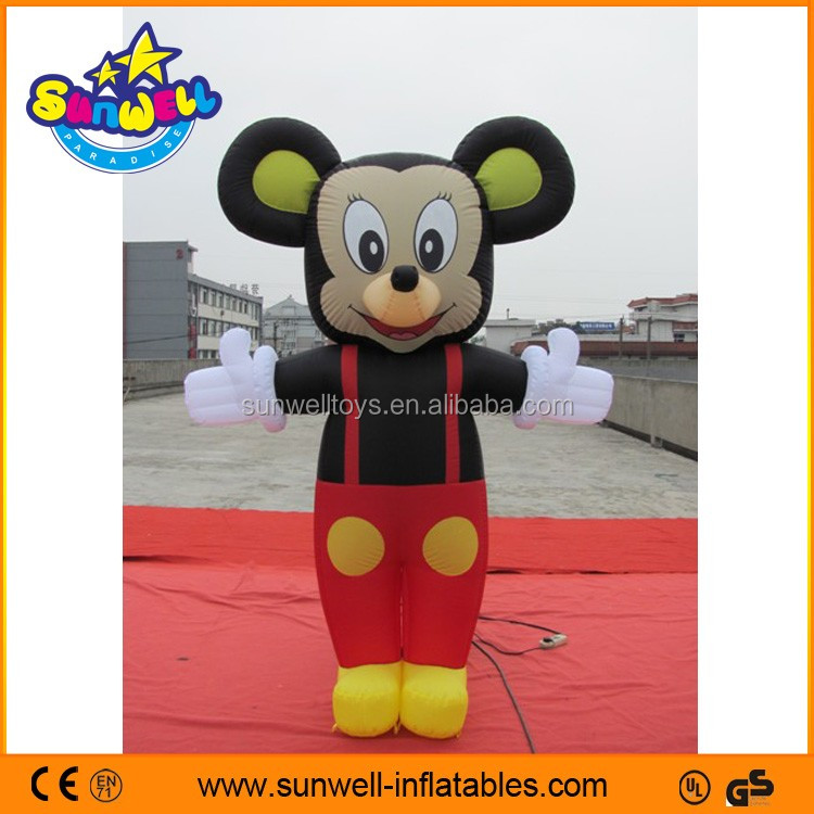 Outdoor inflatable mickey cartoon character, inflatable advertising, inflatable ground balloon for sales