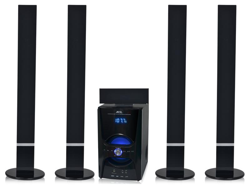 High quality 5.1 bt tower home theater speaker with bt mp3/4 fm radio