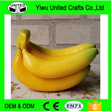 Artificial Yellow Fruits Banana Lifelike Decorative Fake 1 Bunch Bananas Foam