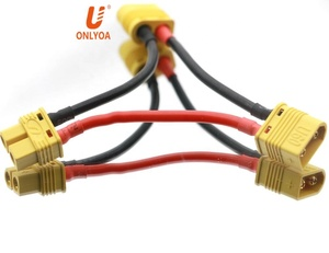 Jst Connector 2Pin Female To 2 Male XT60 Balance Parallel Convertion Wire Harness