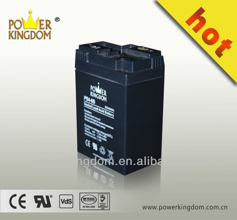 OEM Brand 6V4Ah Sealed Lead Acid Battery For UPS, Alarm Systems