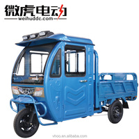 Semi enclosed battery operated electric Tricycle With Roof