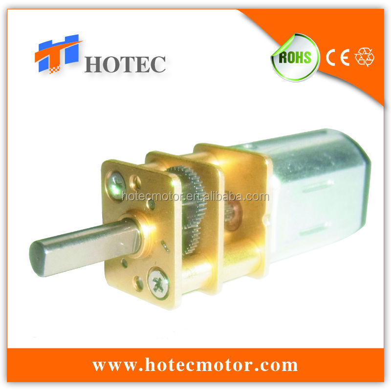 silent reversible 6v 12v micro gear motor with gear ratio 1:1000
