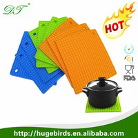 heat resistant table mat heat resistant silicone hot pad /mat fashionable silicone coaster