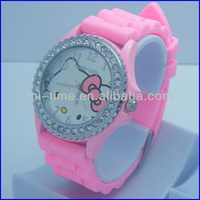 2014 hello kitty analog movt quartz fashion custom silicone watch