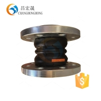din stainless steel PN16 twin sphere bellows type rubber expansion joint for valves