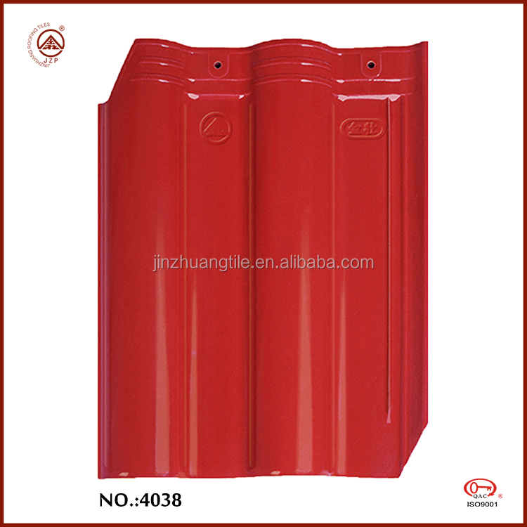 Chinese Glossy Red Clay Roof Tiles Waterproof Tiles for Roof