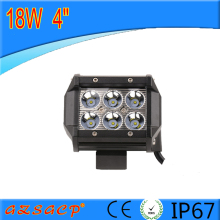 Double row 4inch 18w offroad bull bar led light bar,led bull bar light with IP67