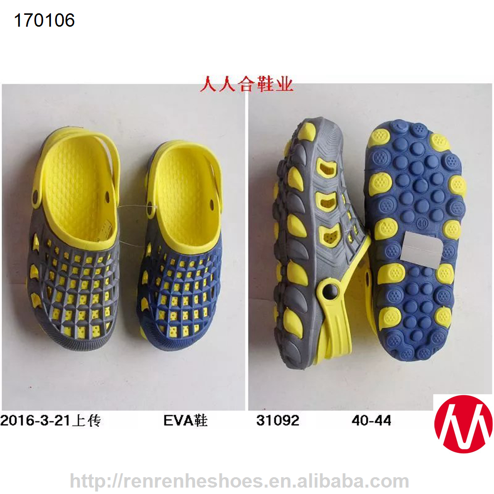 Wuchuan Factory wholesale men EVA shoes garden clogs with good price