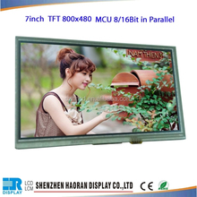 "7"" 30Pin,MCU 8080 8Bit/16Bit Parallel lcd screen panel madule controller board and touch panel"