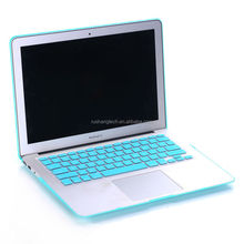 Eco-friendly for macbook a1342 top case with keyboard cover