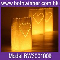 Fireproof paper candle bags ,h0td4 paper lantern led lights for sale
