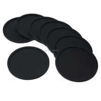 high quality silicone drink wine coaster with 8pcs/set
