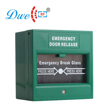 Emergency break glass rfid exit button access control door push button switch NO/COM output