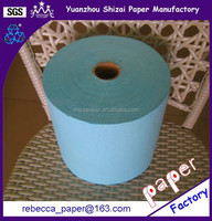 High Absorbency Blue Hand Towel Paper Roll for Drying Hands
