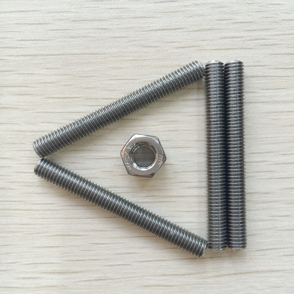304 stainless steel double head b8 stud bolts
