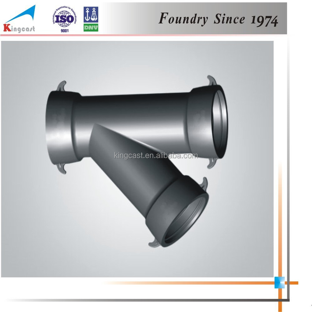 Custom industry best selling cast iron 45 degree y branch pipe fitting lateral tee