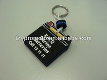 clock shaped specail EVA keychains