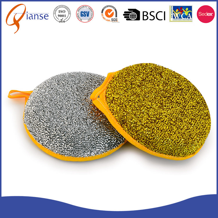 Cheap Price Kitchen Accessory round Sponge Scouring Pad fot kitchen room
