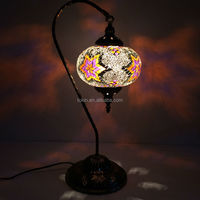 (TL01L04) 2015 NewDesign glass material Handmade Mosaic Art Swan Turkish table Lamp