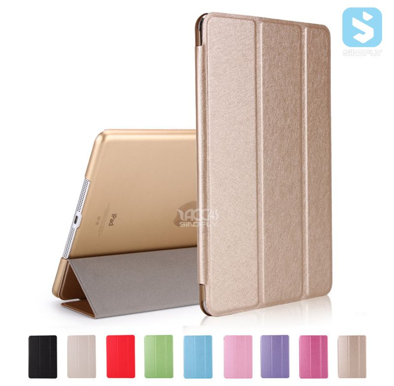 Hot sales TriFold Glitter PC protective tablet case for APPLE iPad 9.7 2017