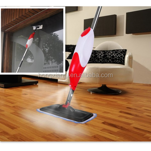 Spray Mop with microfiber cloth and multifuction spray squeegee