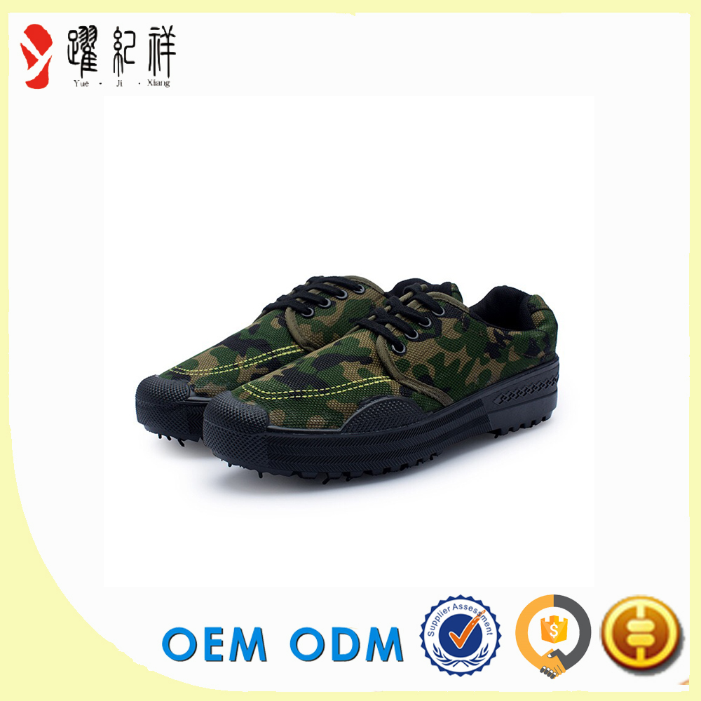 jungle army green color canvas combat safety camouflage shoes men