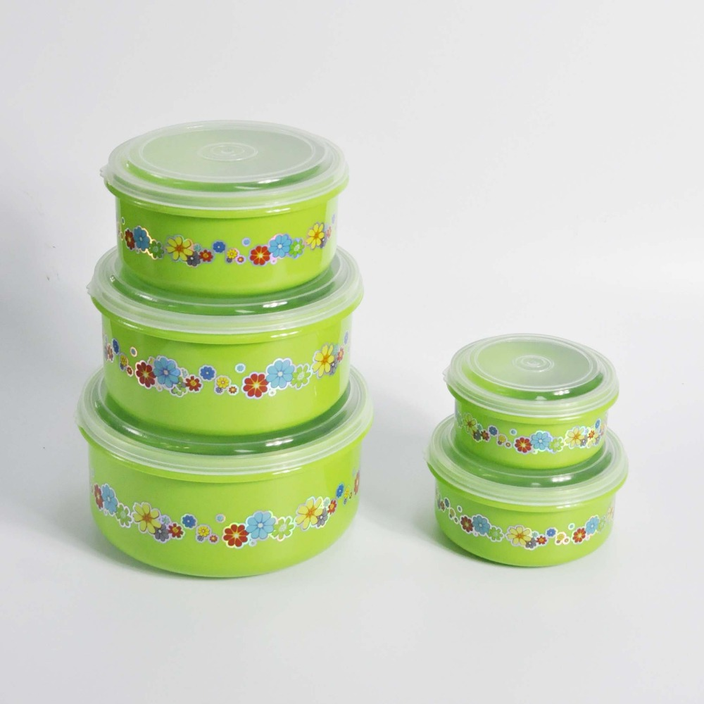 5 pieces pp plastic military food storage container