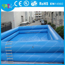 Customized blue double large inflatable pool, inflatable swimming pool for outdoor and indoor
