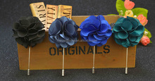 18 Colors Fabric Blooming Flower Lapel Pin,Men's Suit Satin Flower Lapel Brooches And Pins