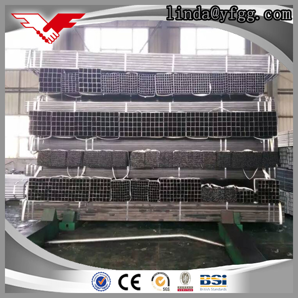 ASTM A500 Grade B cold drawn construction material square and rectangular low carbon steel pipe