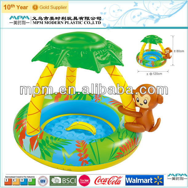 inflatable palm tree paddling pool