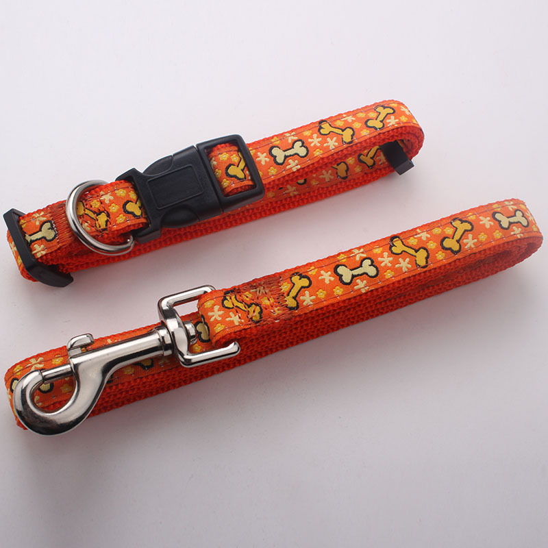 Custom Halloween gift sublimation polyester printing sample free designer dog collar leash