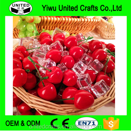 20pairs Artificial Fake Fruit Cherries Foam Cherry Lifelike Decorative Fruits