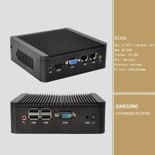 Embbeded I3 MINI Desktop comupter 1T hard disk 8G Memory 2 ethernets mini pc with VGA display