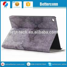 Wholesale Leather Case For Ipad Air 2, World Map Pattern Leather Case For IPad Air2