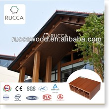 Foshan Ruccawood WPC/Wood Plastic Composite Classical Red Wood Timber Tube for Interior Decoration,Home Decoration150*50(3mm)