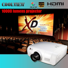 10000 LAN support 3d red-blue edge blending built in Full HD LCD 10000 lumens digital professional cinema projector price