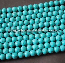 High quality 10mm Natural round gemstone turquoise beads!! Loose strands Howlite turquoise gemstone beads!! Assorted colors!! !!