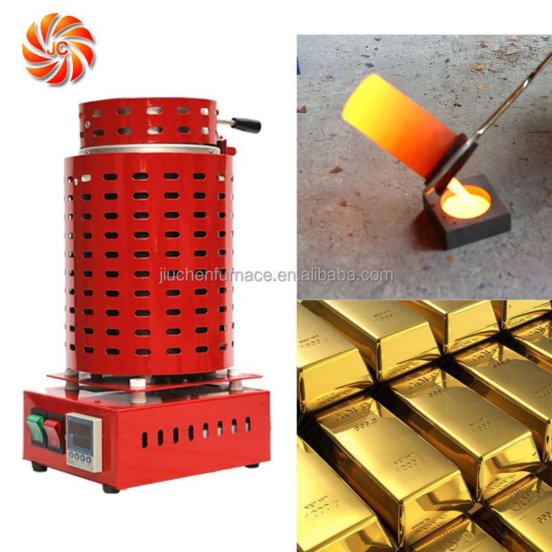 JC Safety Electric Crucible Melting Furnace Small Gold Melting Machine