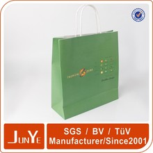 Eco friendly kraft paper die cut handle gift paper bag packaging