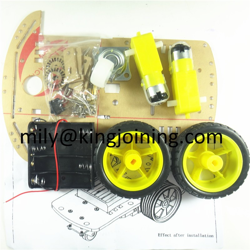 KJ106 2WD Robot Car Chassis Kit with Speed Encoder Battery Box