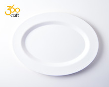 Hot sale food lever Eco friendly oem 100% melamine disposable plate for restaurant