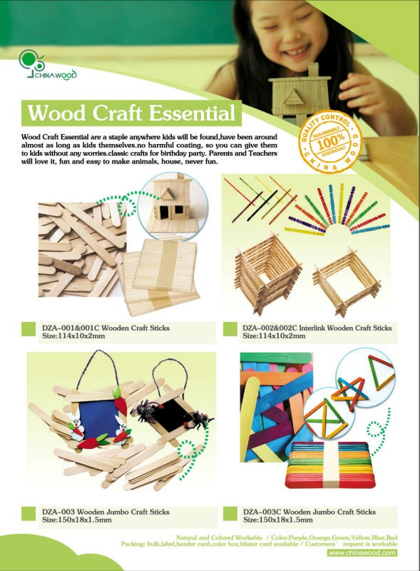 DIY toy, Colored Wooden Sticks for arts and crafts project