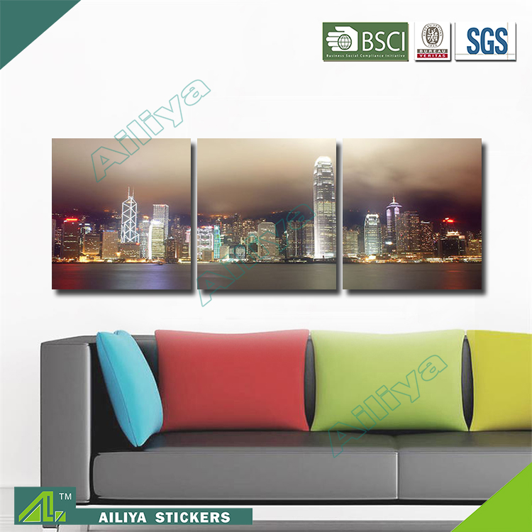 Home decor hotel wall art diy modern three panel oil painting by numbers