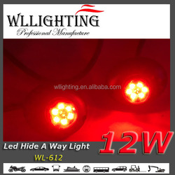 Police Vehicle 12 W LED Hide-Away Strobe Warning Light Red blue