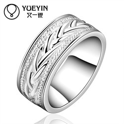 Charming Glowing Beautiful Design Silver Plating Ladies Fantasy Engagement Rings