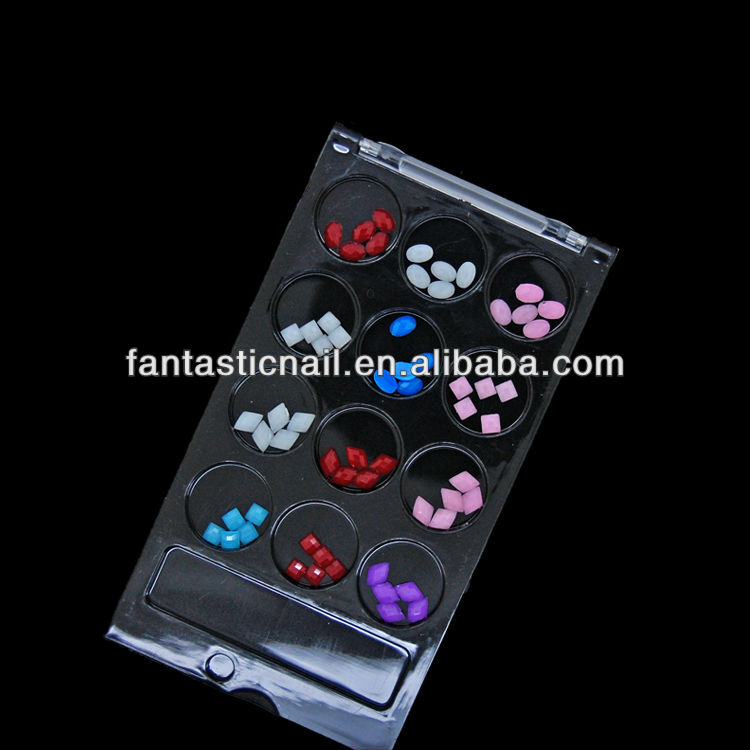 2014 New Design Mixed 12 Designs 60pcs/set Hotfix flatback 3D Acrylic Nail Art Rhinestone,FN-86